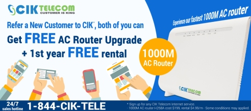 free rental router